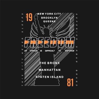 Freiheit schriftzug gestreifte abstrakte grafik typografie vektor t-shirt design illustration
