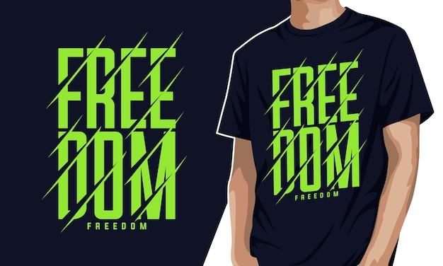 Freiheit - typografie-grafik-t-shirt