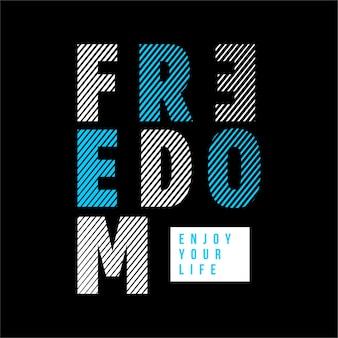 Freiheit - typografie grafik