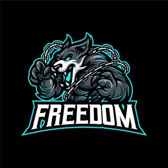 Freiheitskämpfer maskottchen logo vektor vorlage