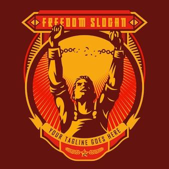 Freiheitsrevolution union abzeichen Premium Vektoren