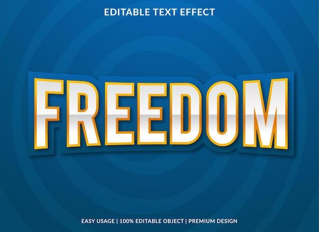 Freiheitstext-effekt mit fettem stil