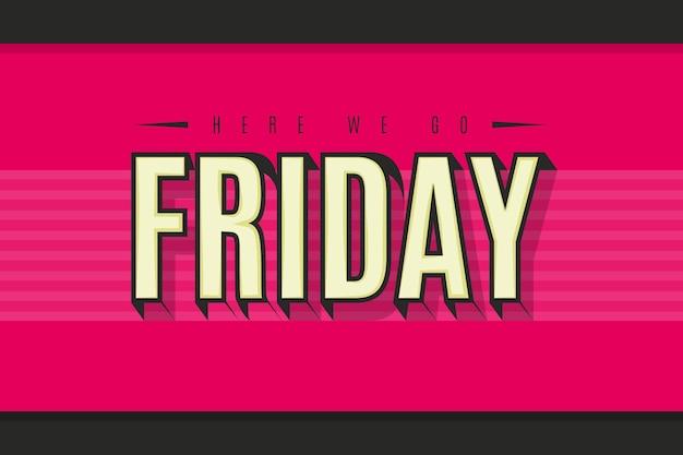 Freitag genießen sie ihr wochenende lebendigen rosa hintergrund