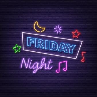 Freitag nacht neonschild