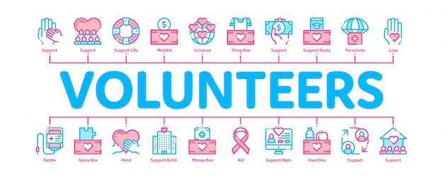 Freiwillige unterstützen banner