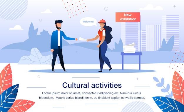 Freiwilligenarbeit für kulturelle aktivitäten banner