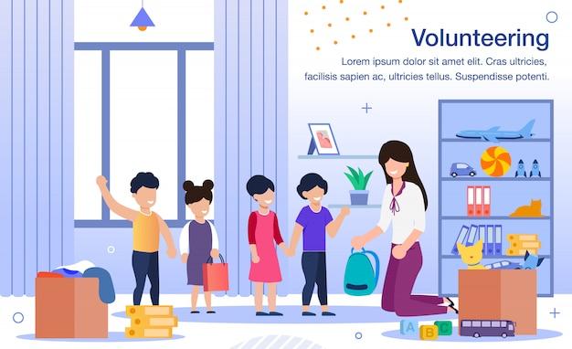Freiwilligenarbeit im waisenhaus oder in der schule