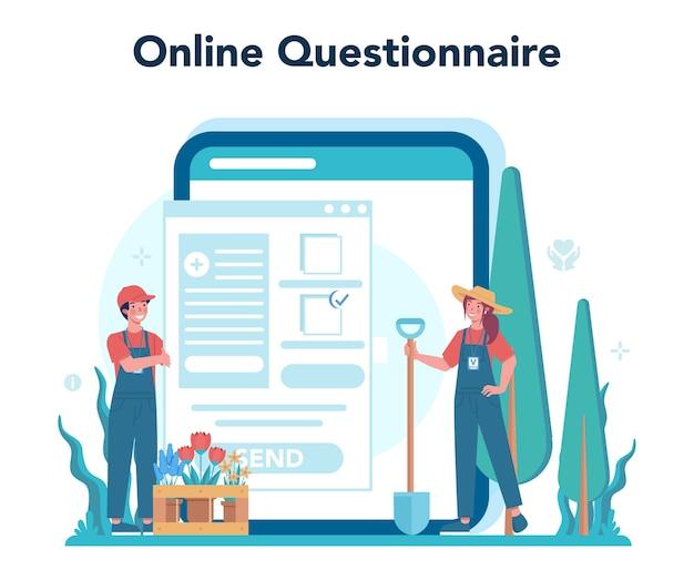 Freiwilliger online-dienst oder plattform.