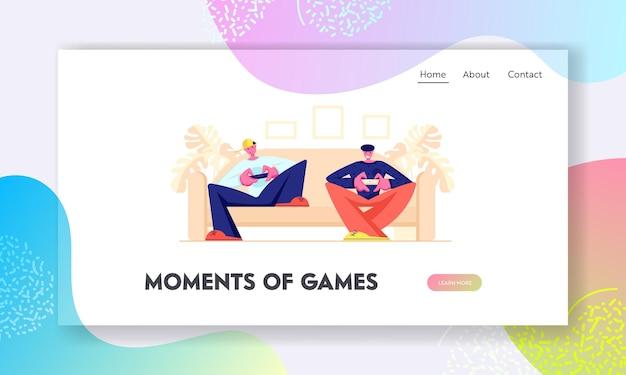 Freizeit, sucht, freizeit, landing page der virtual reality-website, webseite.