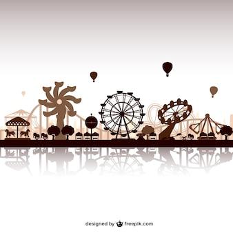 Freizeitpark skyline