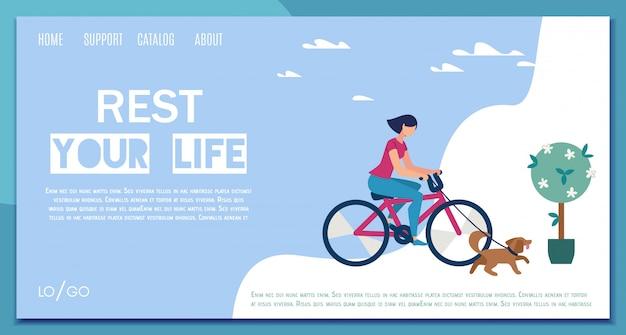 Freizeitplanung service flat web banner