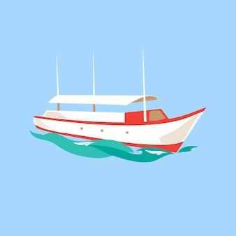 Freizeitschiff auf dem wasser.
