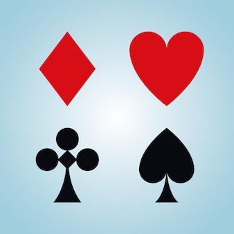 Freizeitspielkartensymbole