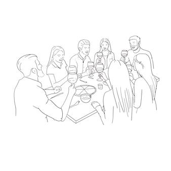 Freunde Abendessen