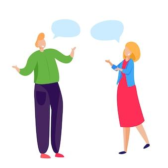 Freunde, die sprechen und sich grüßen