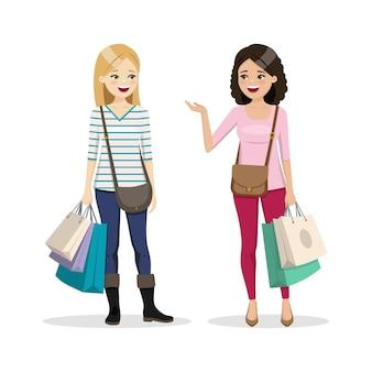 Freunde einkaufstag