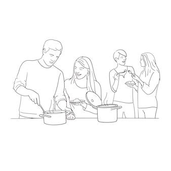 Freunde kochen