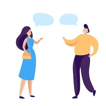 Freunde miteinander zu reden