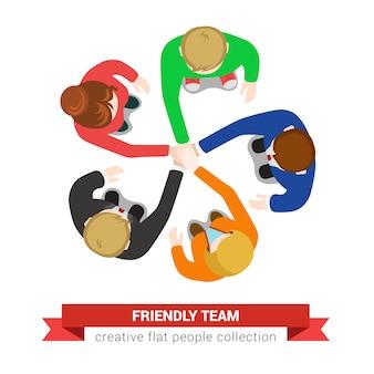 Freundliche teamillustration
