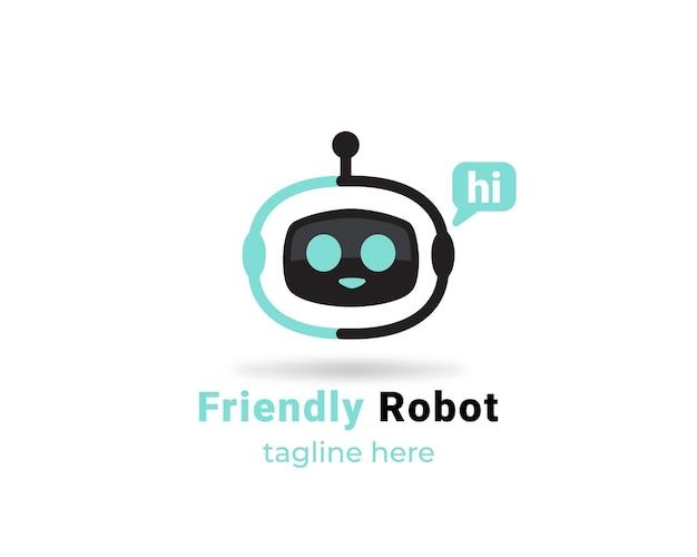 Freundliches roboterlogo