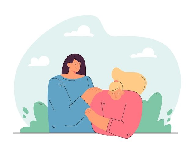 Freundschaft, hilfe, empathie-konzept