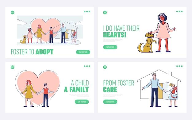 Freundschaft und adoption menschen adoptieren und kümmern sich um haustiere