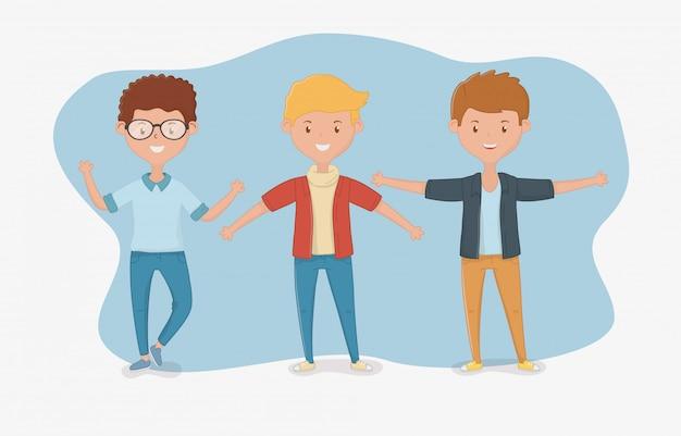 Freundschaft von jungen cartoons design