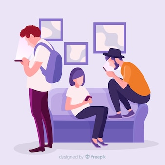 Freundschaftskonzept von social media getötet
