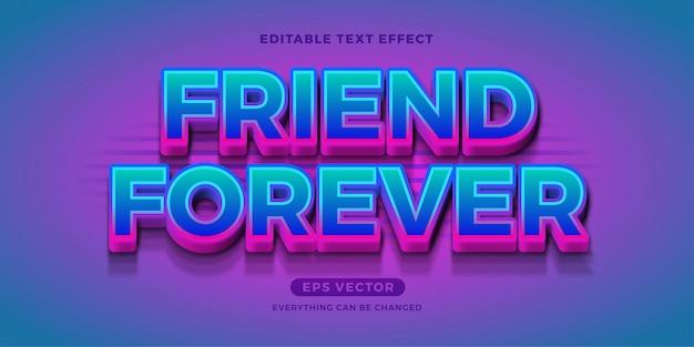 Freundschaftsstarker girly moderner bearbeitbarer texteffekt