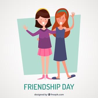 Freundschaftstagehintergrund mit besten freunden