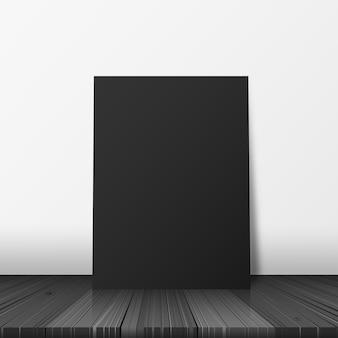 Frieden des schwarzen Papiers auf der Bretterbodenvektorillustration