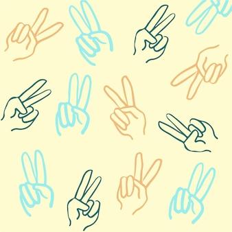 Frieden handgeste muster hintergrund vektor illustration