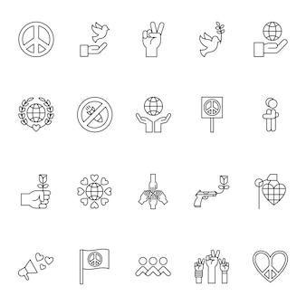 Frieden und menschenrechte symbole