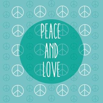 Friedens- und liebeskarikatur