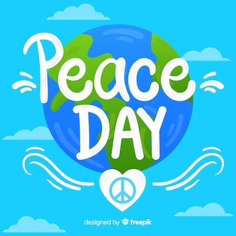 Friedenstageskonzept mit beschriftung