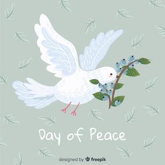 Friedenstageskonzept mit hand gezeichneter taube