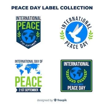 Friedenstageslabel sammlung von vier