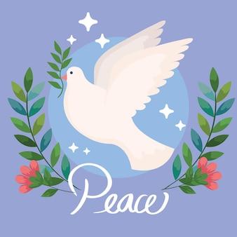 Friedenstaube fliegen