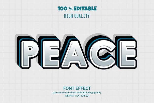 Friedenstext, bearbeitbarer gusseffekt