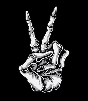Friedenszeichen-skelett