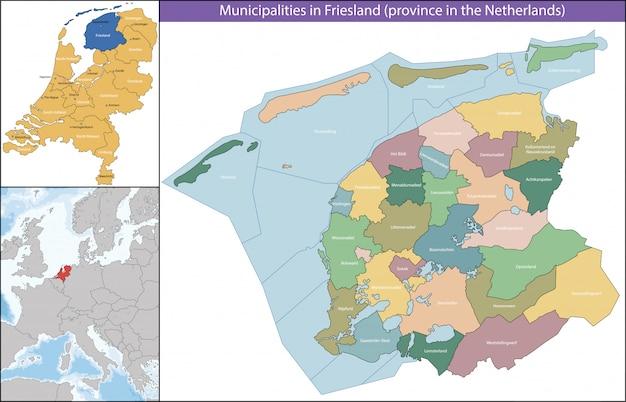Friesland ist eine provinz der niederlande