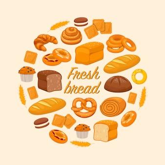 Frisch gebackene produkte