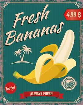 Frische bananen. bananenillustration
