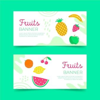 Frische früchte banner vorlage