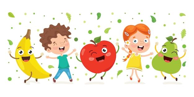 Frische früchte für gesundes essen