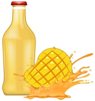 Frische mango mit saft