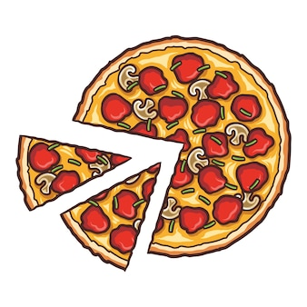 Frische pizza, leckeres pizzastück