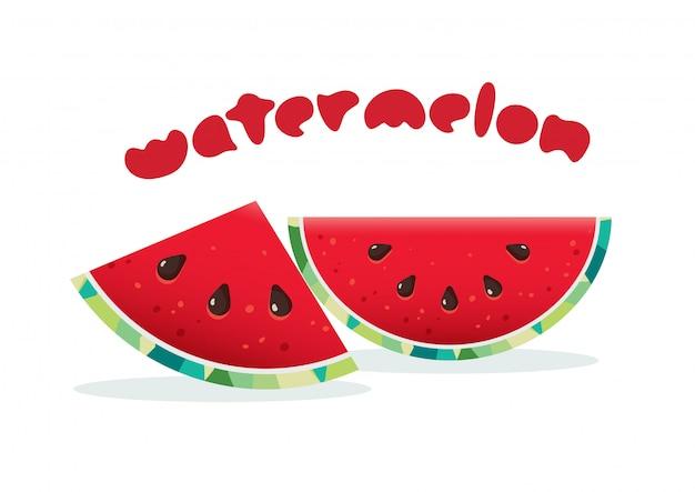 Frische saftige wassermelonenillustration
