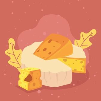 Frischer brie-käse italienischer französischer käse