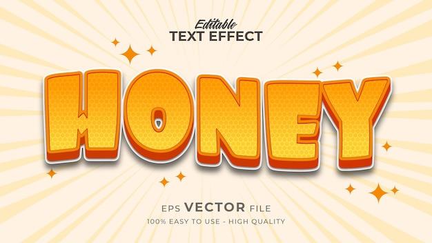 Frischer honig bearbeitbarer texteffekt